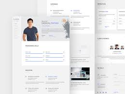 Resume Web Template Free One Page Cv Resume Template Psd At Freepsd Cc