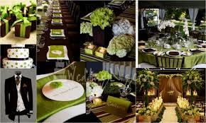 lime green wedding colors decorating party