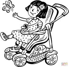 letting her bird fly free coloring page free printable