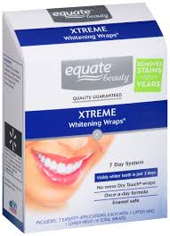 equate 7 day dental whitening system advanced whitening wraps 14