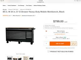 husky 66 in w 24 in d 12 drawer heavy duty mobile workbench source of good toolbox pirate4x4 com 4x4 and off road forum