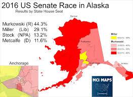 2016 Election Prediction Map by Lisa Murkowski U0027s Electoral Coalition U2013 Mci Maps