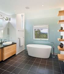 charming pure ceramics flooring matched with bathroom paint ideas