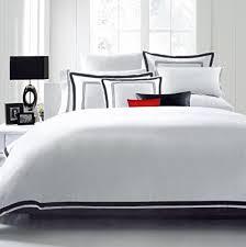 amazon com hotel luxury 3pc duvet cover set elegant white black