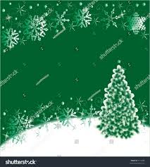 Christmas Tree High Resolution Christmas Tree Snowflakes Background Green White Stock Vector