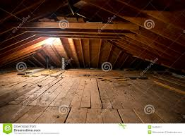 dark old dirty musty attic space in house or home royalty free attic