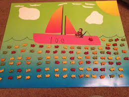 100th day of project using goldfish and adding my son onto