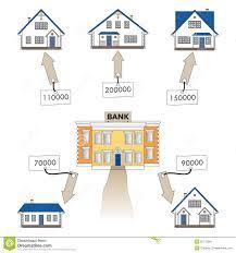Zu Kaufen Vektorillustration Hypothekendarlehen Zum Eines Hauses Zu Kaufen