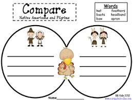 free thanksgiving kindergarten compare pilgrims and