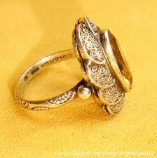 art deco theodor fahrner tf sterling silver citrine gemstone ring