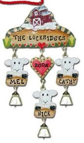 personalized farm animal ornaments