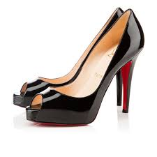 christian louboutin lady peep spikes patent leather version
