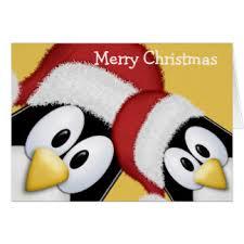 penguin greeting cards zazzle