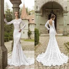 fitted wedding dresses fashion lace sweep mermaid wedding dresses fitted bodice