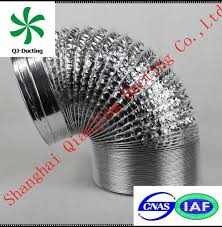 Insulated Ventilation Ducting Non Combustible Pre Insulated Duct Accessories Without Toxic Gases