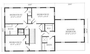 Modern House Blueprints Simple Floor Plan Nice For Mother In Law Has 2 Closets Very