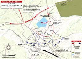 Map Of Northern Virginia Battle Of Appomattox Station