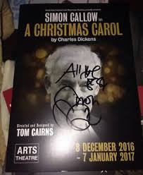 simon callow signed a carol theatre programme 100