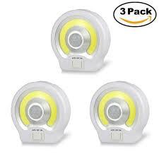 stick on lights for closets alltrolite motion sensor cob led light cordless battery powered led