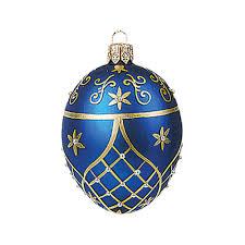 faberge inspired mini blue egg christmas ornament crane com