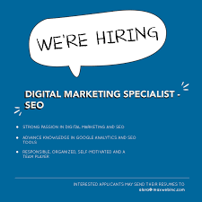 Digital Marketing Specialist Resume Maxweb Inc Linkedin