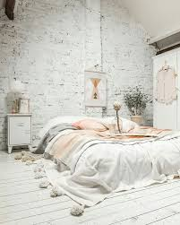 No Bed Frame White Brick White Wood Floors No Bed Frame Just An Oversized