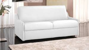 canape couchage quotidien canape convertible rapido cuir recycle blanc couchage