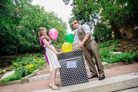 vow renewal wording a surprise vow renewal with a giant box of balloons