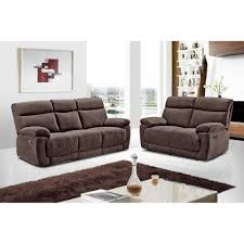 glasgow brown chenille fabric recliner collection with fully