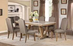 Marble And Wood Dining Table Homelegance Jemez Dining Set Faux Marble Top Weathered Wood