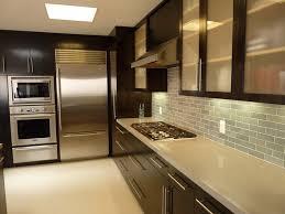 kitchen with dark cabinets affordable kitchen backsplash ideas