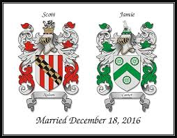wedding anniversary gift ideas two custom family coat of arms