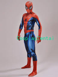 spiderman costume high quality 3d shade spandex zentai suit