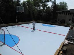 Hockey Rink In Backyard by Global Synthetic Ice