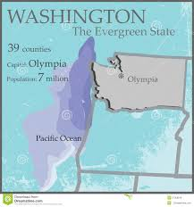 Washington State Detailed Map Stock by Washington State By Counties Royalty Free Stock Photography