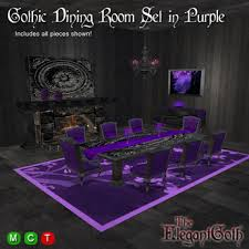 Purple Dining Room Chairs Second Marketplace Dining Room Set In Purple