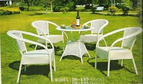 white outdoor table and chairs outdoor furniture garden furniture set manufacturer from new delhi