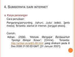 daftar pustaka merupakan format dari cara menulis daftar pustaka dari internet blog atau wikipedia