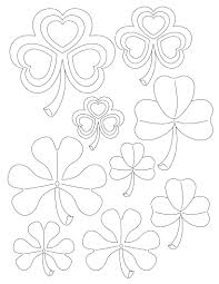 how to craft shamrock stencils hellokids com
