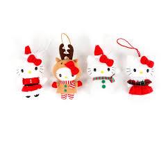 hello mascot plush ornaments 4 set sanrio