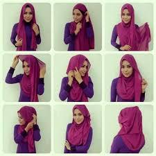 simple hijab styles tutorial segi empat cara lengkap berhijab yang cantik dan modern