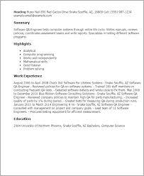 Qa Engineer Resume Example by Software Qa Tester Sample Resume