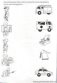 community helpers printable worksheets for kids preschool and