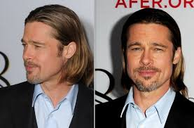 when a guys tuck hair behind ears means brad pitt hair 2012 14 jpg