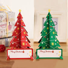 3d handmade paper merry tree pop up greeting card