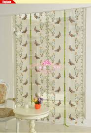 butterfly for kitchen window voile curtains sheer
