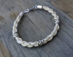 bracelet with beads images Horse hair bracelet with beads braided horsehair jewelry etsy jpg