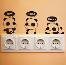 Cute Panda Wall Decal DIY Wall Sticker Wall Decor Vinyl - Wall design decals