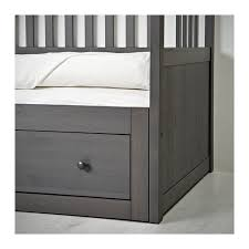 hemnes daybed with 2 drawers 2 mattresses gray stained