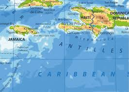 Guantanamo Bay Map The Caribbean Physical Map By Cartarium Graphicriver